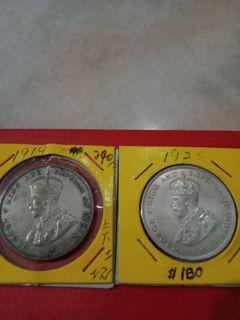 Straits Settlement $1 King George V