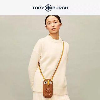 TORY BURCH Perry Bombe Phone Crossbody 皮革手機包