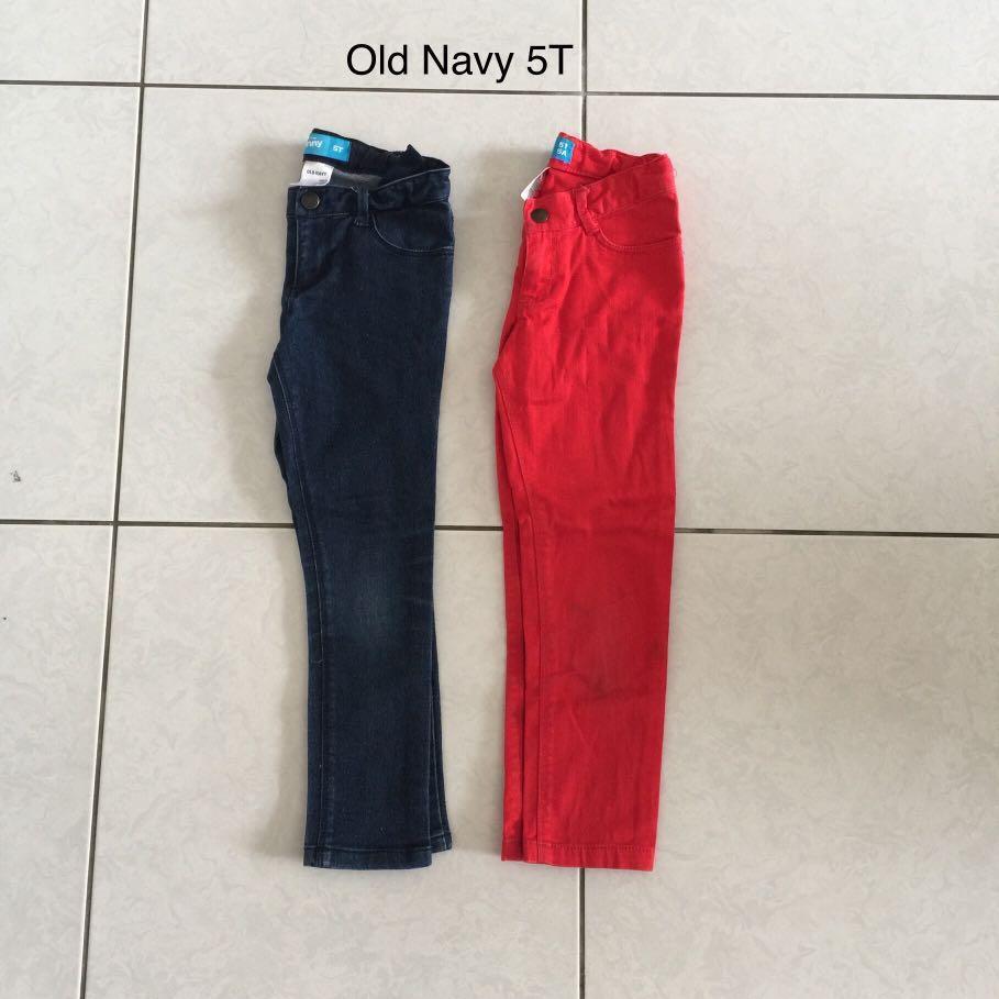 2件合售 約110cm Old Navy 女童彈性牛仔褲牛仔長褲
