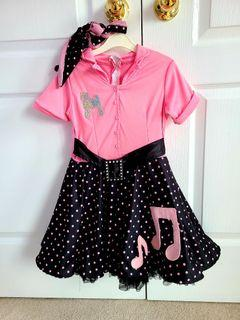 50's Poodle Skirt Girls Costume - size small