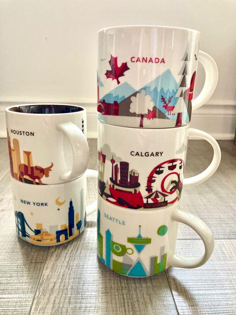 5 mugs - Starbucks You Are Here collection