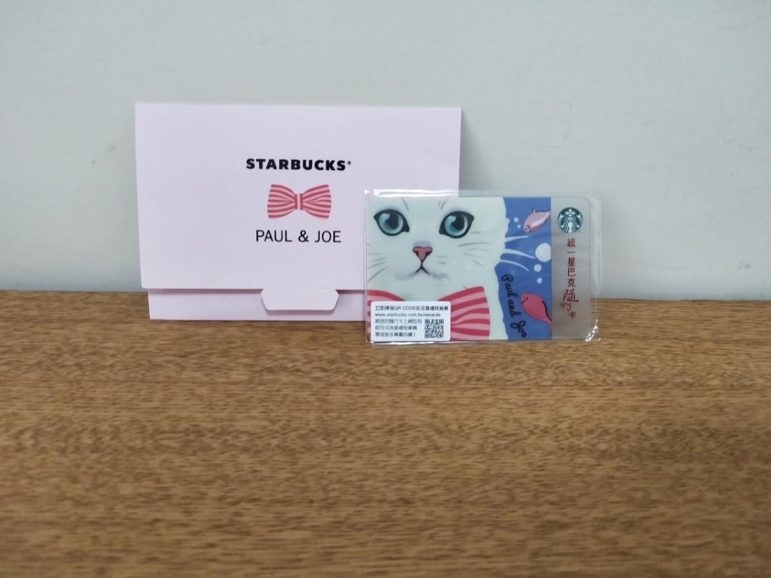 臺灣星巴克 Starbucks 2016年 Paul & Joe 貓咪 聯名 CAT 蝴蝶結 波斯貓 隨行卡 #週慶
