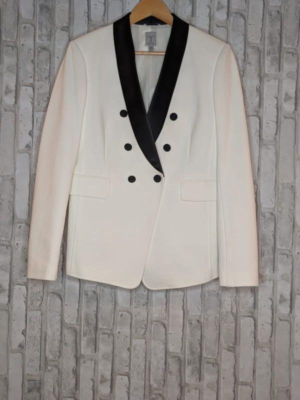 Black and white women's blazer