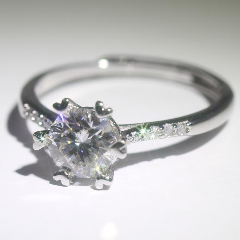 Bling Bling 💍💎 Moissanite Ring S925 silver ring (adjustable free size)