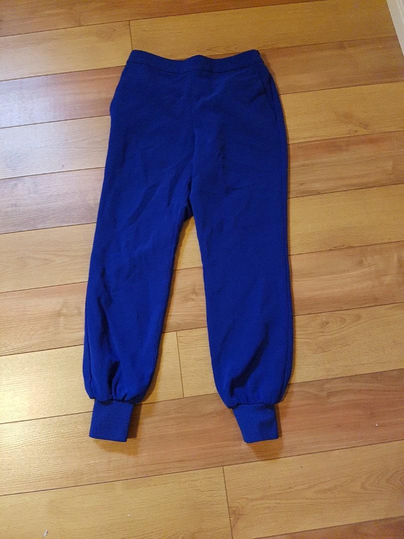 Blue jogger pants