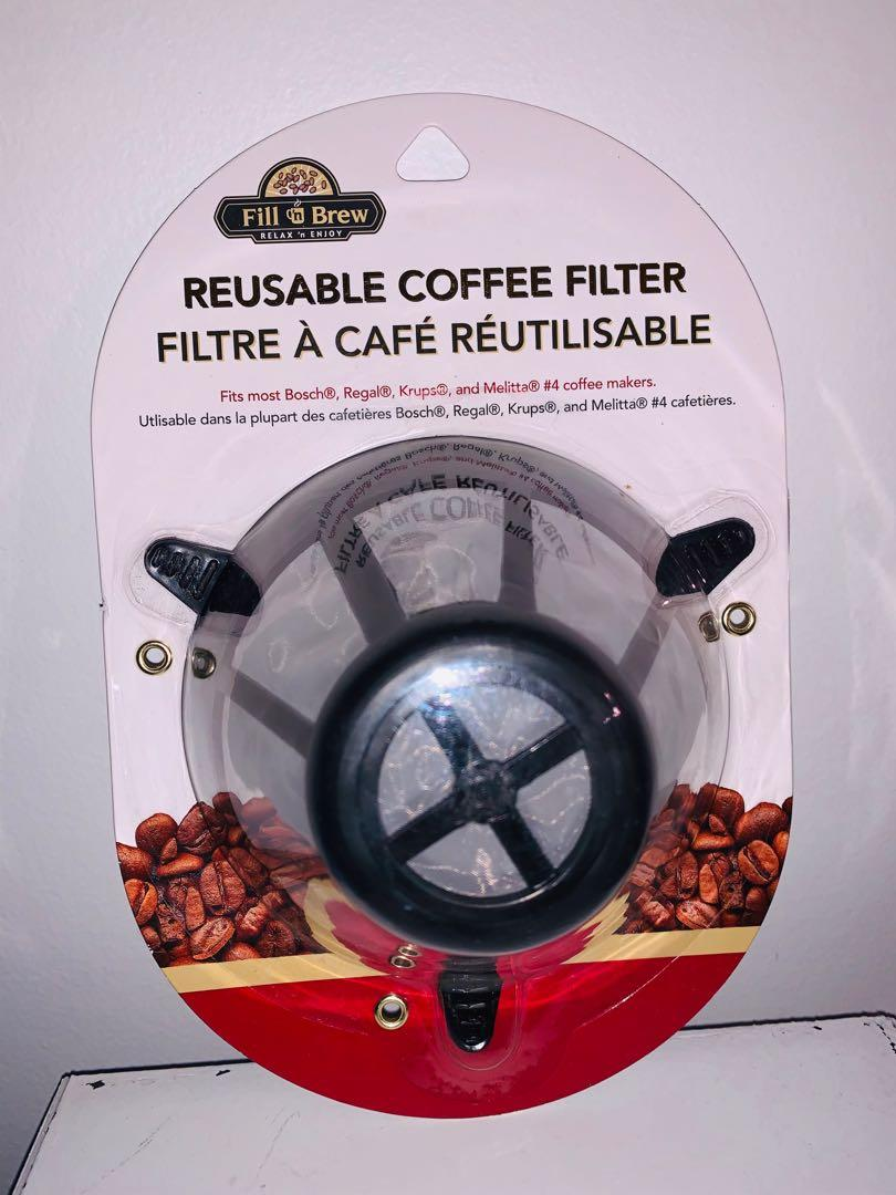 Brand new fill & brew reusable coffee filter