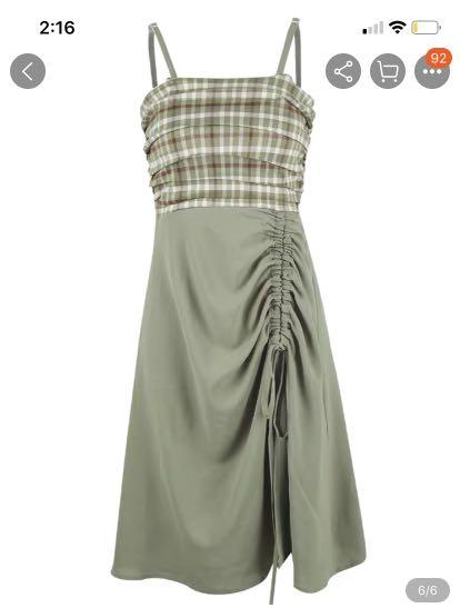 brand new long dress, the length can be adjusted.