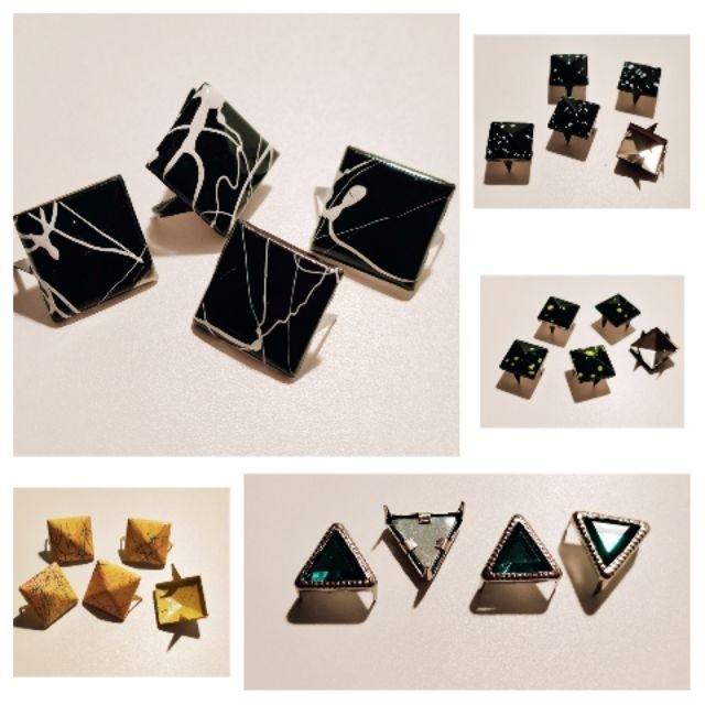 手作DIY串珠材料基礎配件 方形  噴漆   爪扣   別針(全部)
