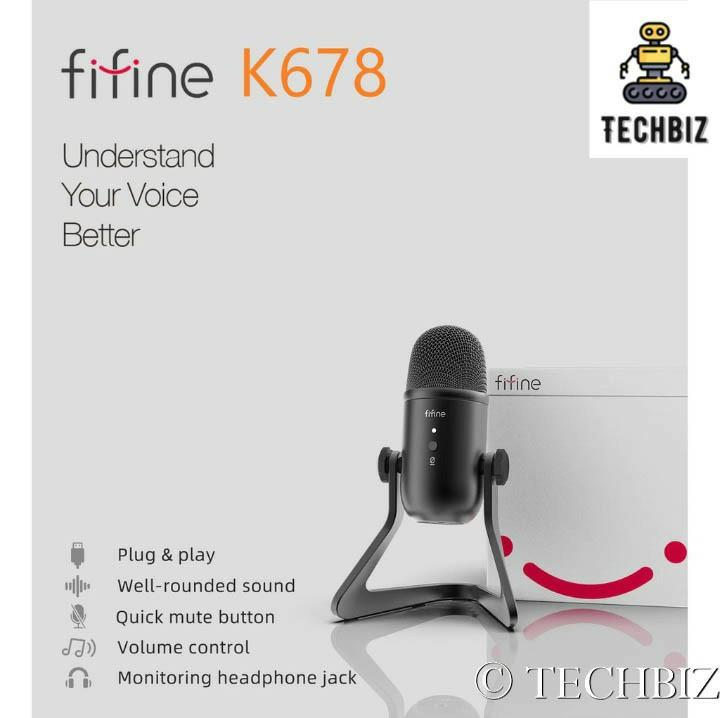 11 11 Sales Fifine K678 Cardioid Condenser Usb Microphone All In One With Mute Button And Mic Electronics Audio On Carousell