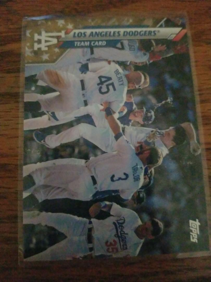 Los Angeles dodgers team card Maybe they'll win world series