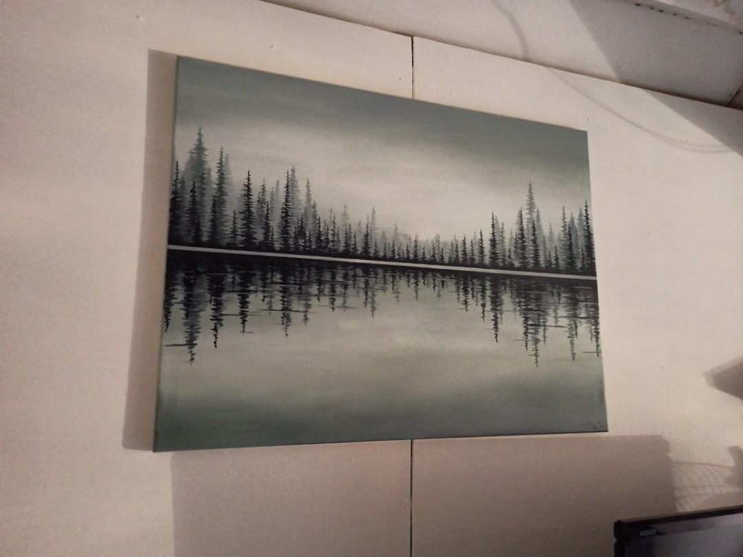 lukisan minimalis