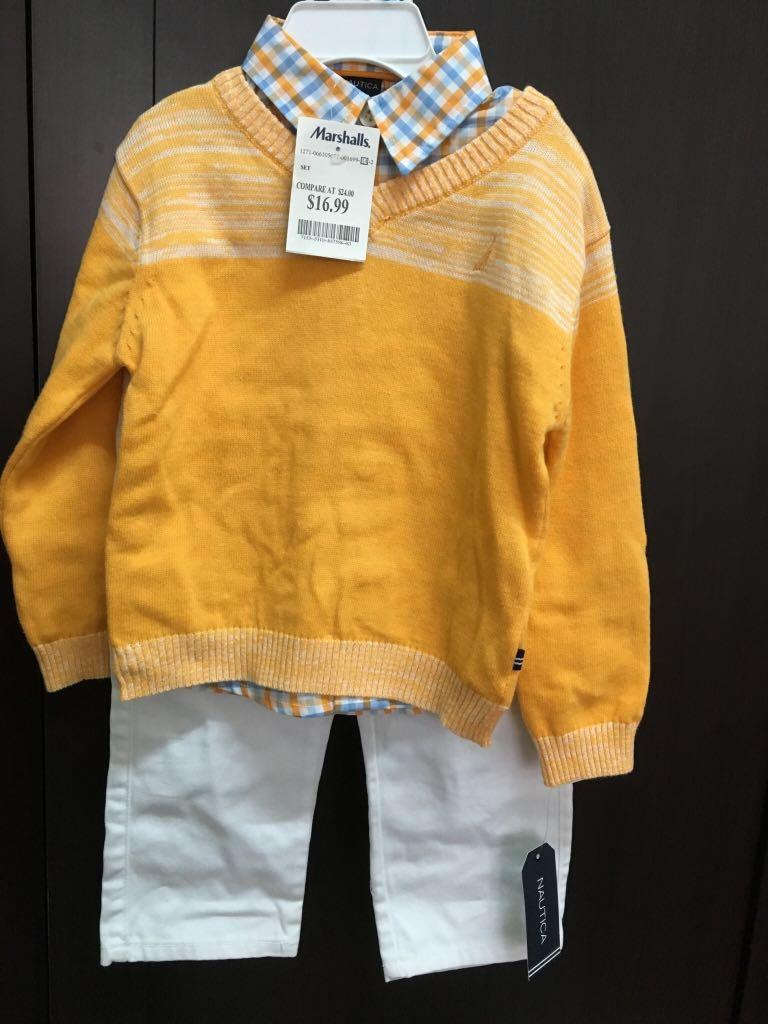 全新品NAUTICA襯衫、毛衣、長褲