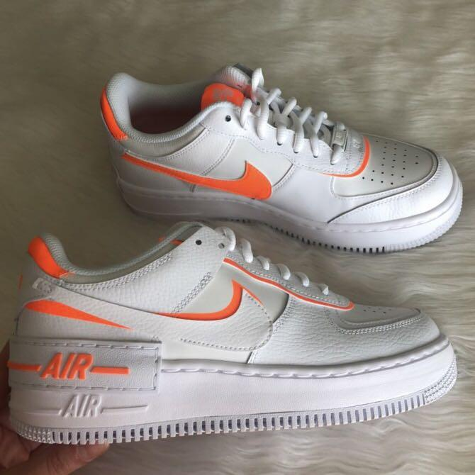 Orange double swoosh shadow Air Force 1 low's