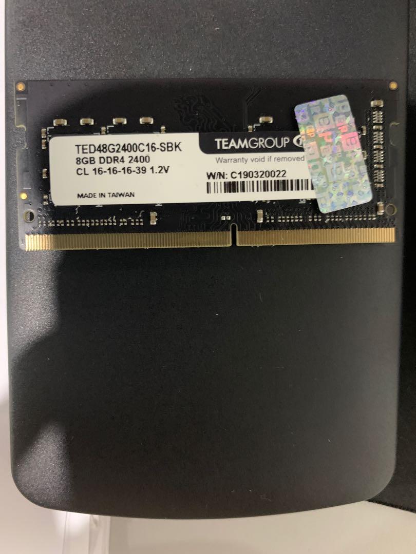Sodimm DDR 4 Team 8Gb