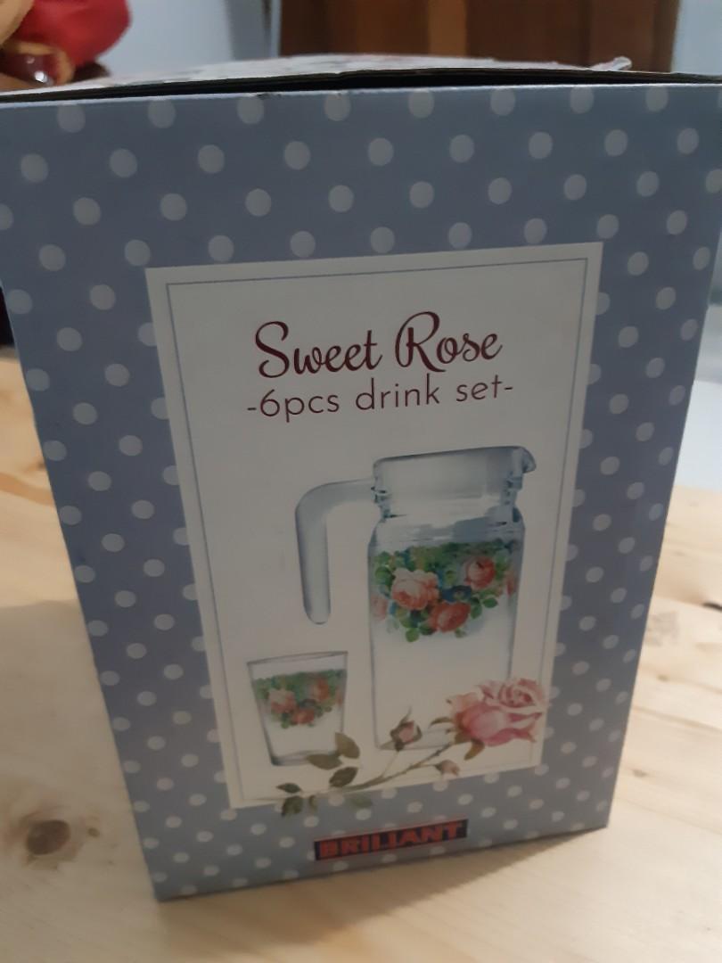 Sweet Rose Drink Set bunga