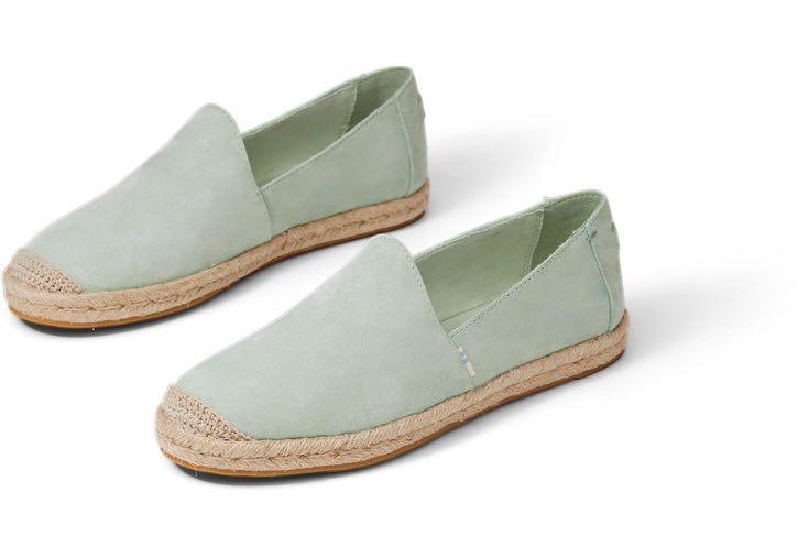 Toms Shoes Mint (Pig) Nubuck Women's