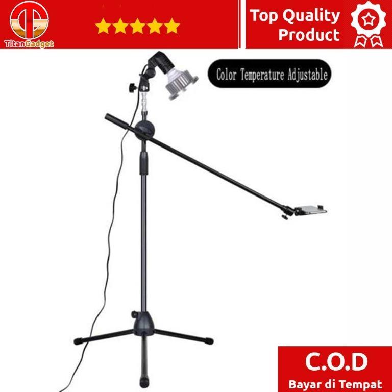 Tripod Stand Smartphone Boom Arm & LED Light 35W CN-128