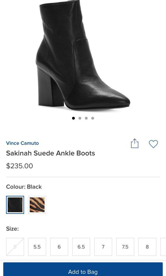 Vince camuto sakinah boots size 8