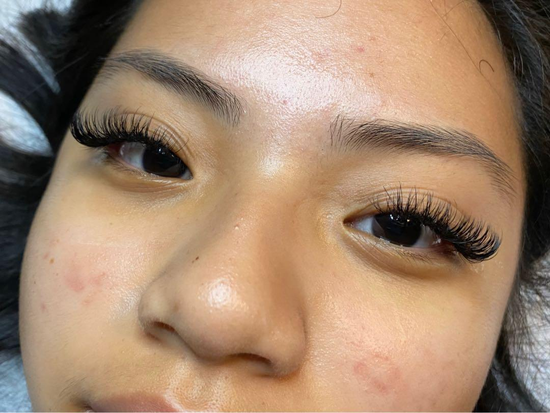 volume eyelash extensions full set