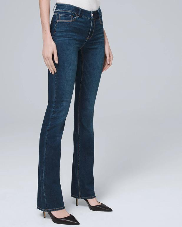 WHBM Mid-Rise Everyday Soft Denim™ Bootcut Jeans, 00 Long