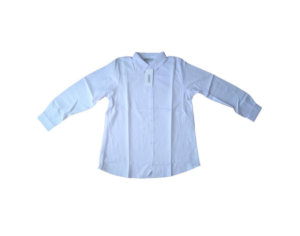 White Everyday Basic Mens Work Shirt, Size 16 EURO