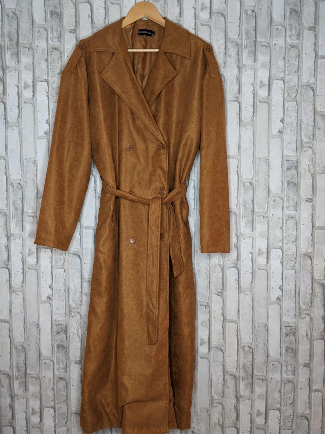 Women's brown trench coat