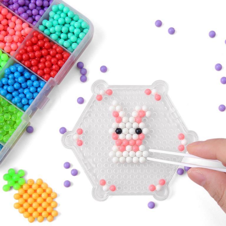 Yuanlebao Mainan Manik-Manik DIY Magic Mold Beads Puzzle 6000PCS - B24