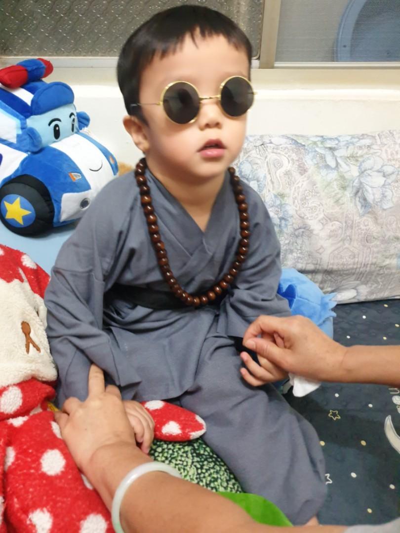 全新 兒童 和尚服  110CM  萬聖節必備 Halloween dress code