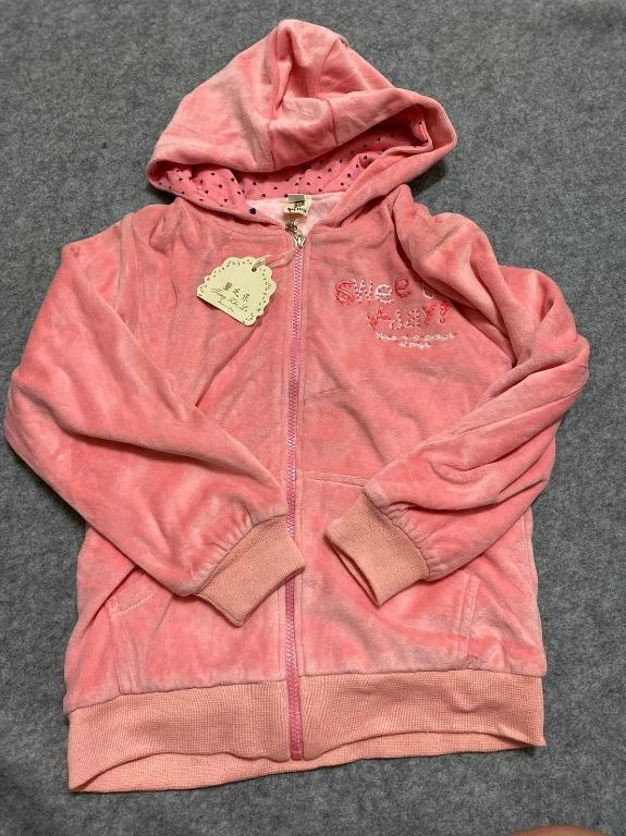女童外套 小童外套 內裡刷毛 長板外套 粉色外套 衣標17