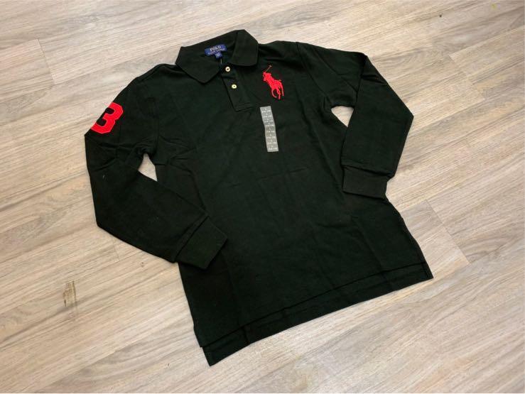 🔥台灣現貨  Ralph Lauren polo青少大馬薄長polo衫 尺寸L 、XL=成人S 、M