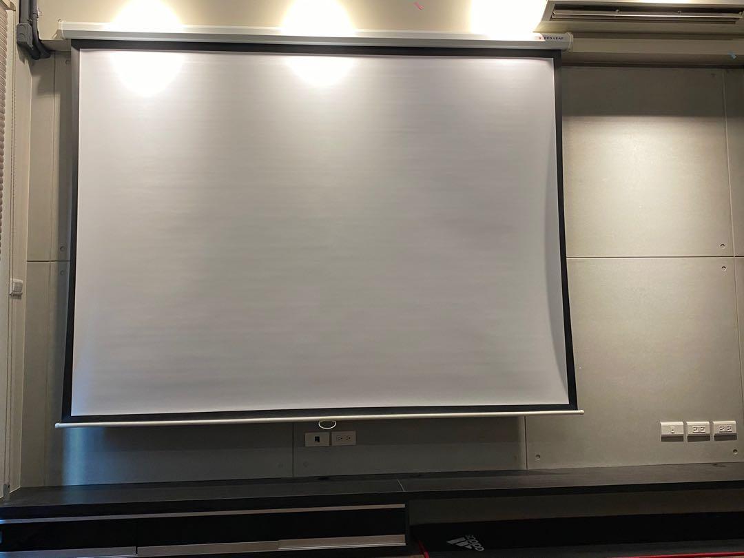 二手 REDLEAF 紅葉 投影布幕 手拉壁掛式 100吋 4:3 家庭劇院 露營