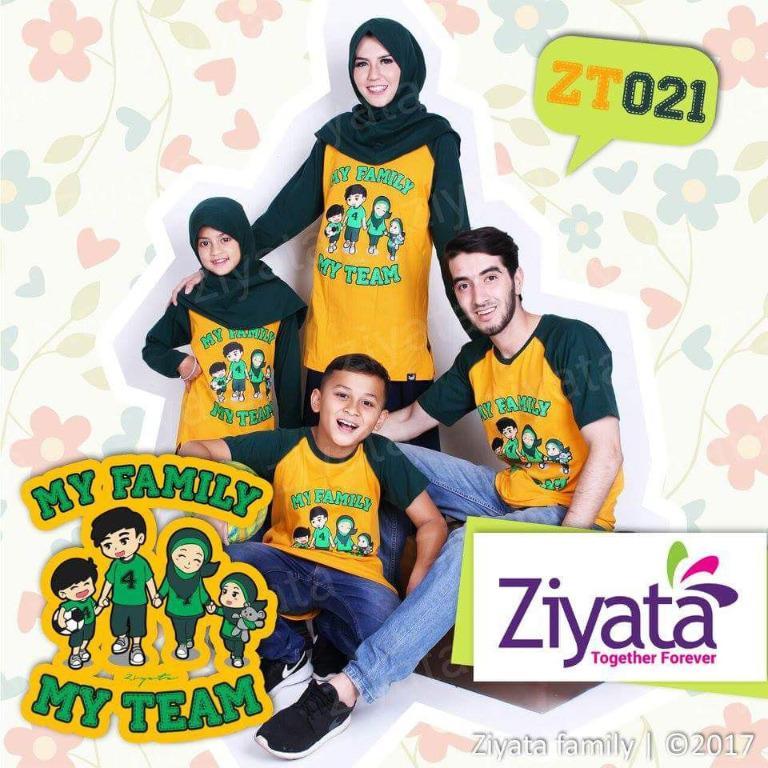 Baju Couple Muslim Keluarga/My family My team ZT021