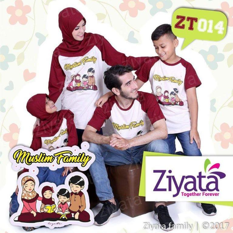 Baju Kaos Sarimbit Keluarga Cotton Termurah ZT014/ Kaos Couple Family/ KaosZiyata / Sarimbit/ Ziyata