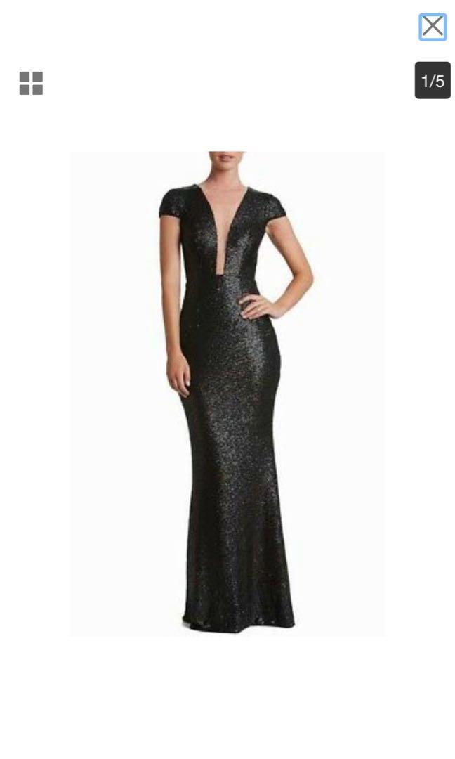 Black Dress the Population evening gown XL