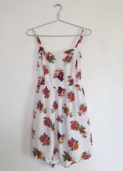 Bright Floral Dress (S/M)