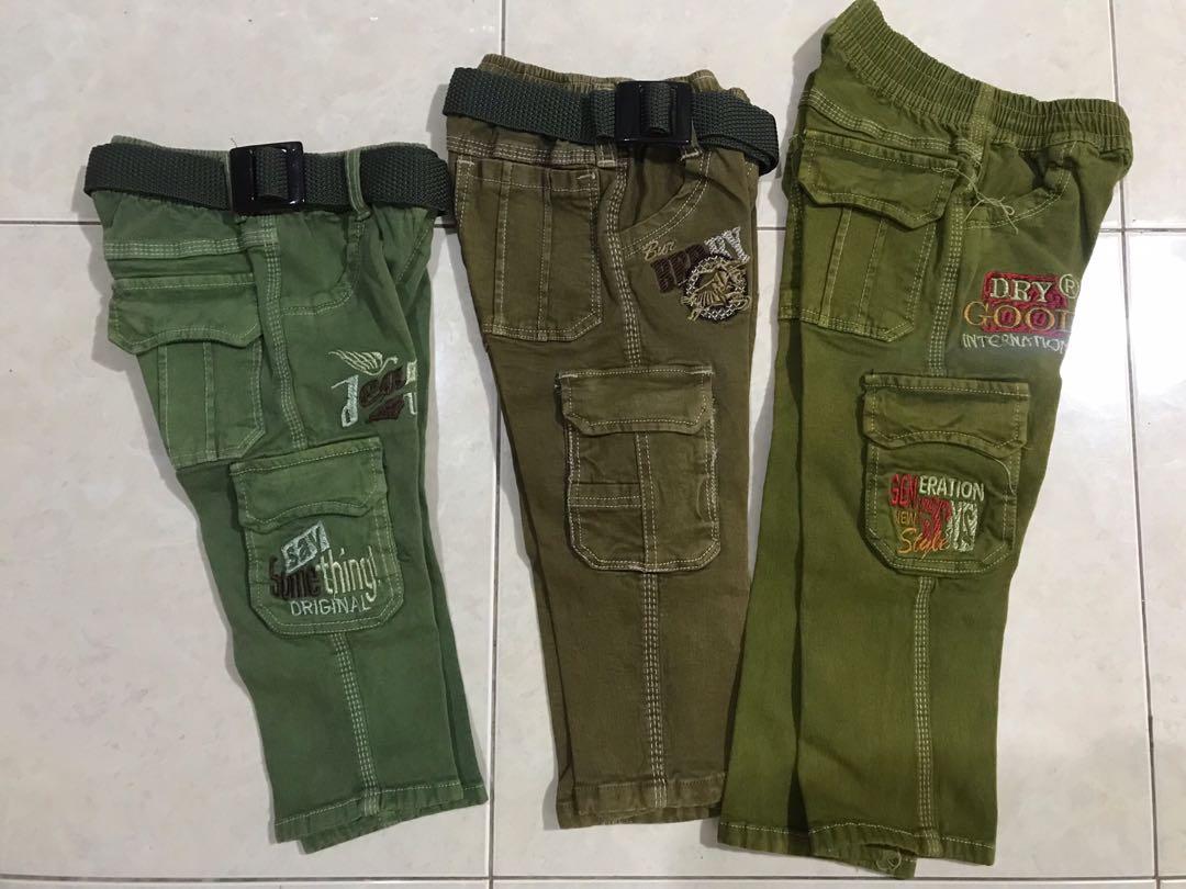 celana jeans anak bahan karet stretch bisa melar 1-3 tahun harga per pc