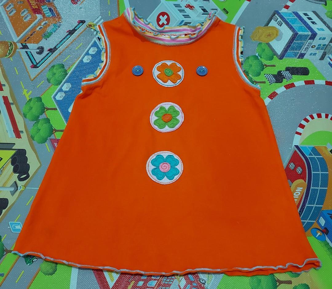Dress anak import 6thn