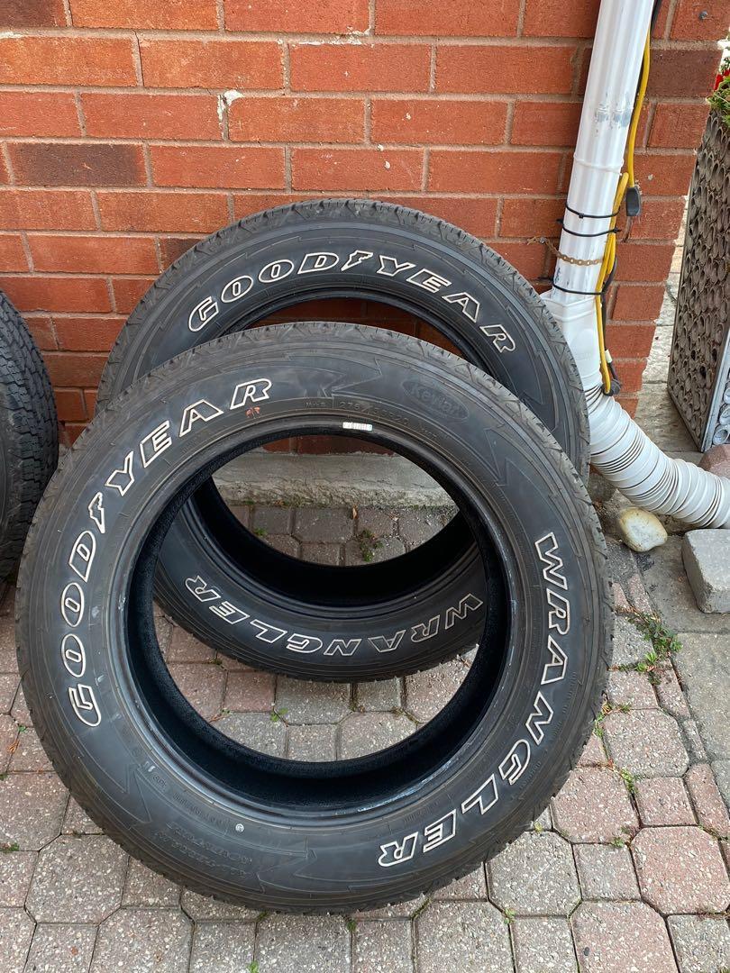Goodyear Wrangler all terrain tires.