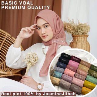 Hijab segiempat voal