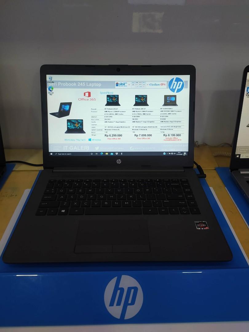 HP Ryzen 5 3500U 8GB 512GB AMD Radeon Vega 8 14 Inch FHD W10