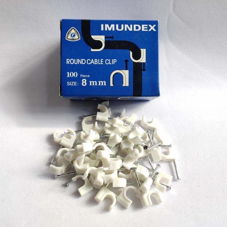 Imundex Klem Clip Kabel Round 8mm