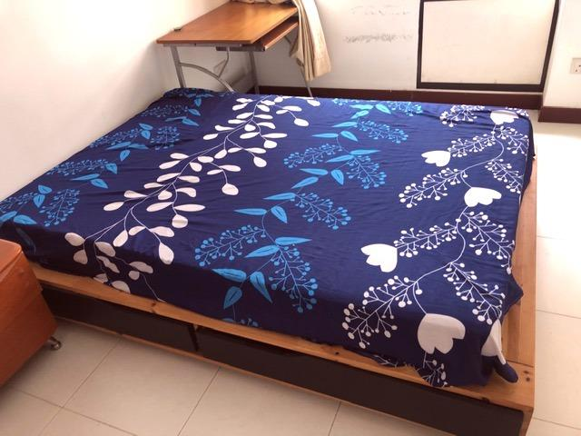Ikea Mandal Japanese Style Bed Frame Solid Birch Wood With 4 Side Drawers Furniture Beds Mattresses On Carousell