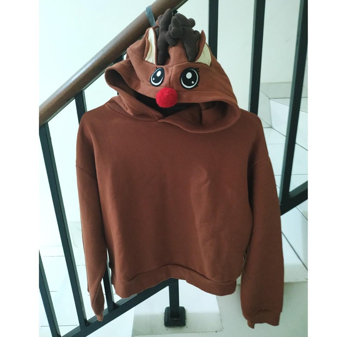 jual preloved divide by H&M hoodie reindeer baju christmas