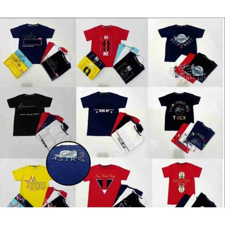 Kaos anak cowok import (SABLON EMBOS)