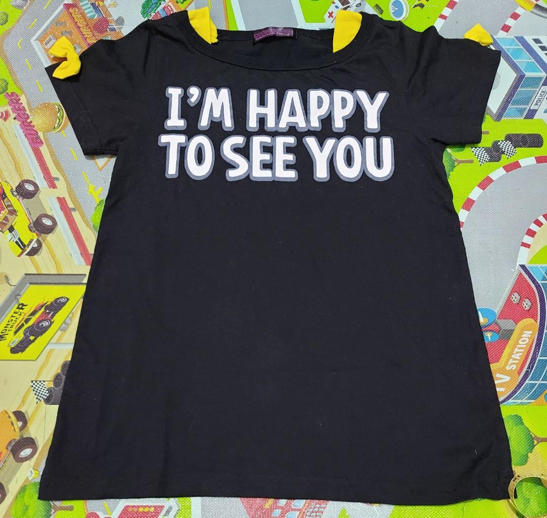 Kaos anak import 12thn warna hitam