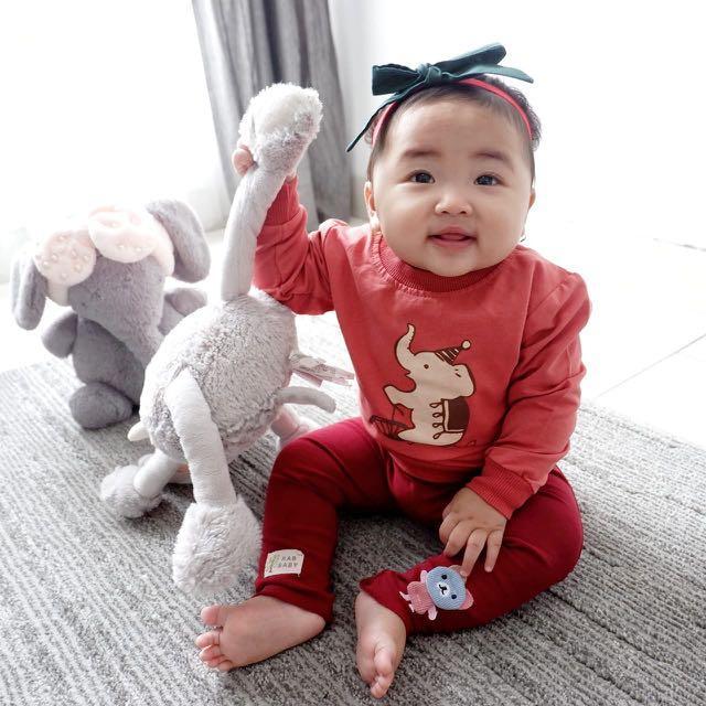 kaos atasan lengan panjang piyama baby bayi girl perempuan mothercare