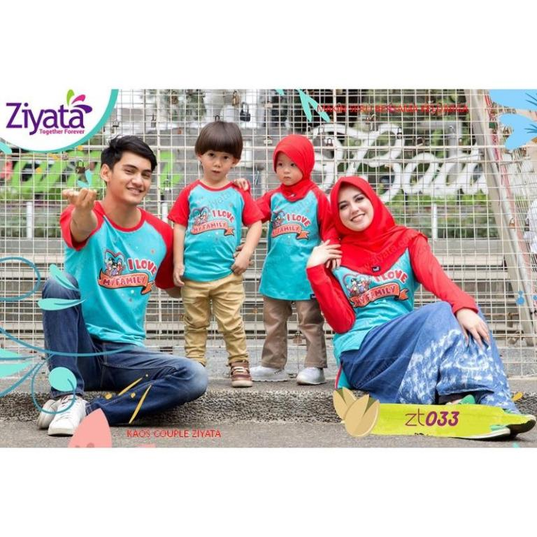 KAOS COUPLE FAMILY ZIYATA I LOVE FAMILY
