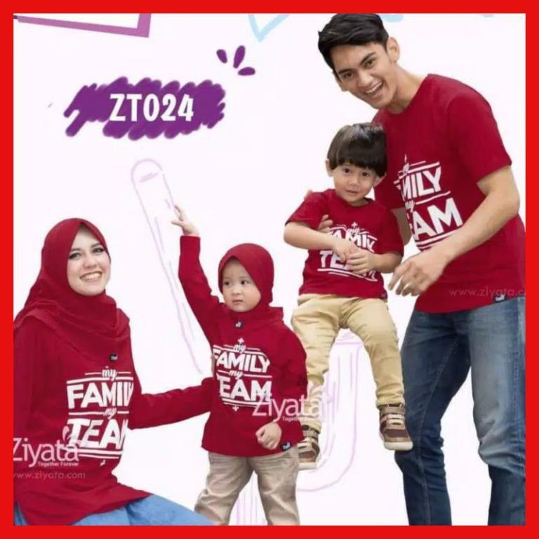 Kaos Couple Pasangan Keluarga Ziyata Merah Zt024 Kaos Couple Keluarga Baju Couple Keluarga