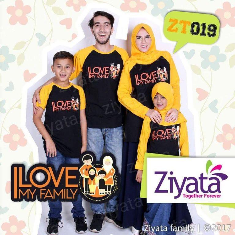 Kaos Couple Sarimbit Ziyata ZT019 Adem dan Nyaman dipakainya Murah - Berkualitas