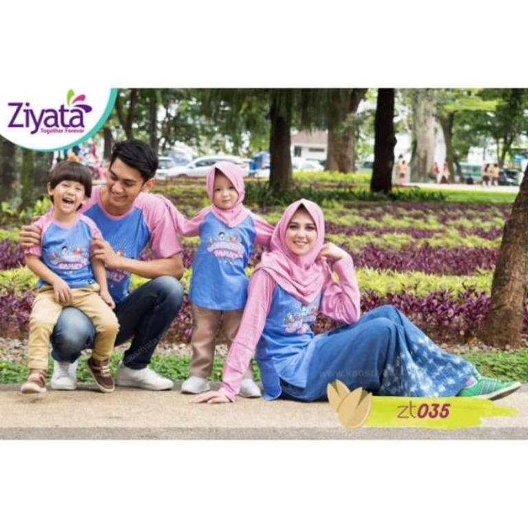Kaos Keluarga Ziyata ZT035/Bahan Cotton Nyaman saat dipakai nya/Kualitas Ori
